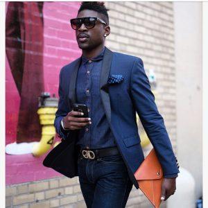 22 Fitted Lapis Blue Jeans Pants & Lapis Blue Suit Coat