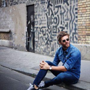22 Royal Blue Skinny Jeans Suit