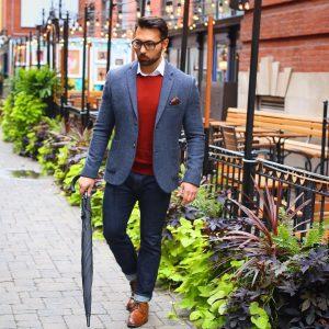 22 Sweater Vest & Grey Blazer