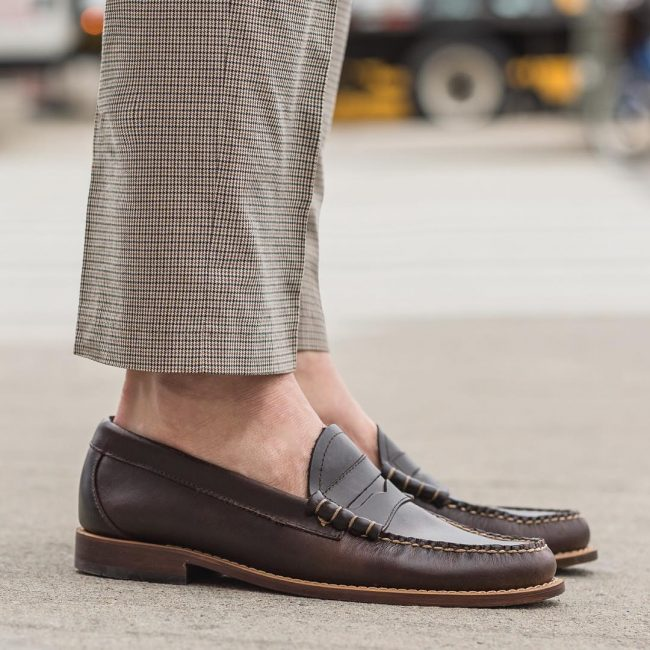 23 Check Trousers With Loafers