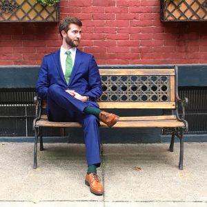 23 Cobalt Blue Casual Suit