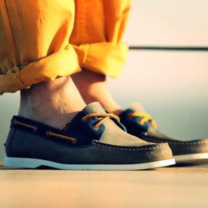 23 Gray Nautical with Orange Pants