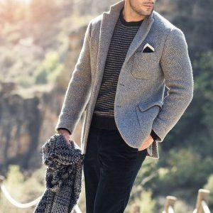 23 Light Grey Tweed Blazer