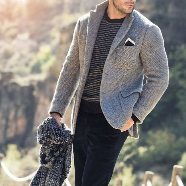 23 Light Grey Tweed Blazer
