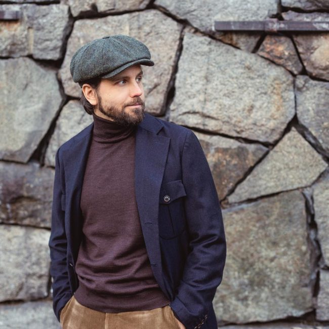 23 Navy Blue Jacket With Cute Beret
