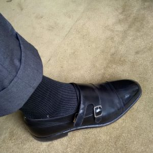 23 Stylish Black Socks and Monk Strap Shoes