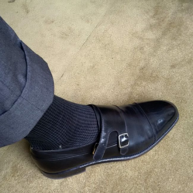 23 Stylish Black Socks and Monk Strap Shoes