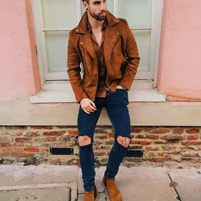 23 The Brown Suede Wear with Ripped Combo