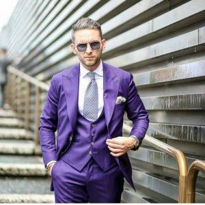 24 Classic Purple Three-Piece