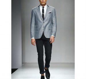 24 Grey Designer Blazer & Fitting Black Pants