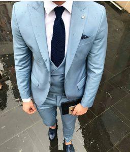 24 Light Blue Designer Vest