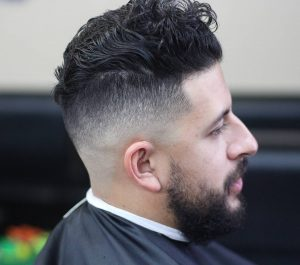 24 Messy Top with Low Skin Fade