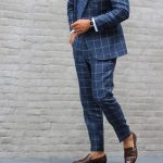 25 Fitted Plaid Royal Blue Suit & Monk Shoes