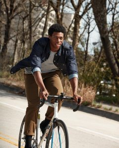 25 Indigo Commuter Jacket & Brown Jeans Pants