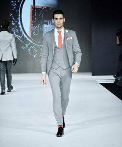 25 Sterling Gray Diagonal Button Cut Suit Vest