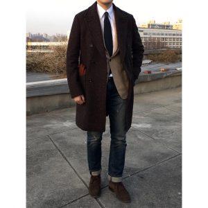 29 Brown Tweed Semi-Casual Look