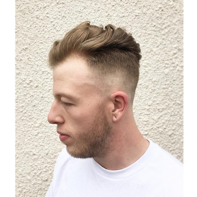 29 Fade Pomp with Tousled Waves