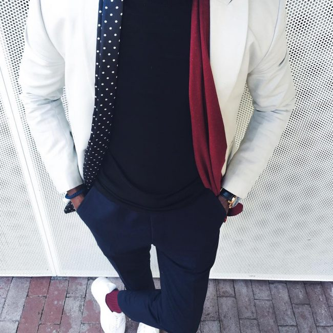 29 Fitted Royal-Blue Pants & Designer Fitted White Blazer
