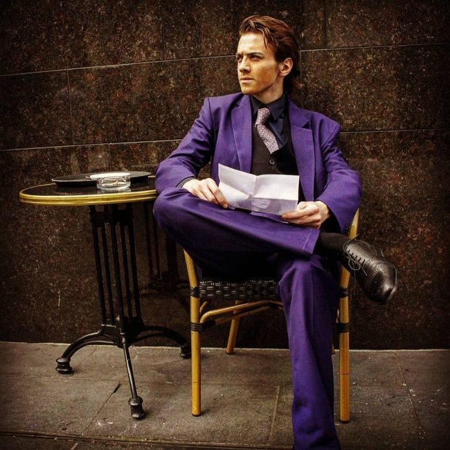 29 Smart Purple Man
