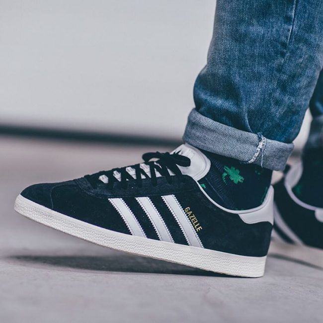 3 Black Gazelle Kicks with White Stripes