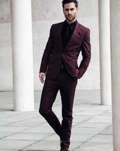 3 Elegant Plum Suit