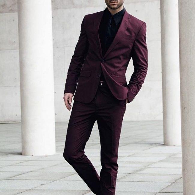 3 Elegant Plum Suit