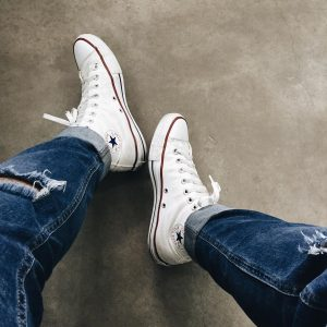 3 High Top White Converse