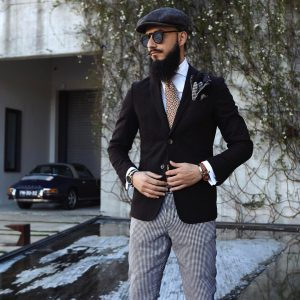 3 Wool Hat with Unstructured Suit