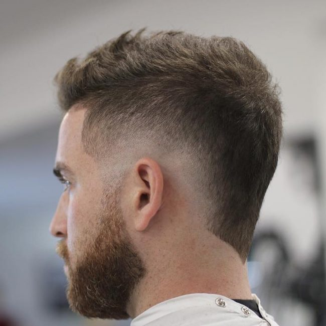 3 Zero Faded V-Back Mohawk