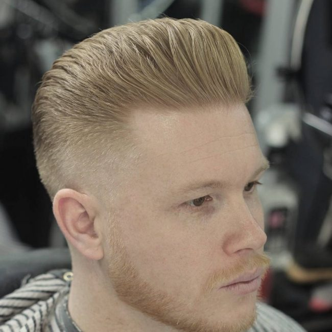30 Sleek Low Fade Pompadour