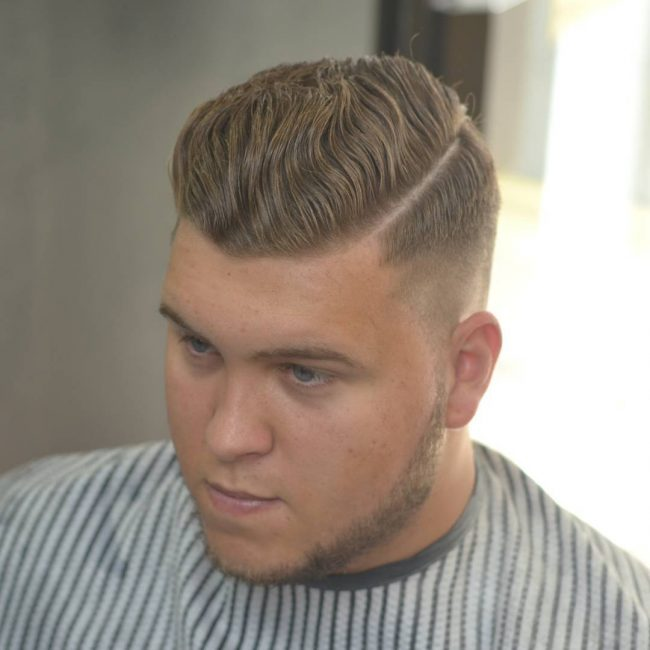 31 Natural Wavy Pomp with Sharp Hardline