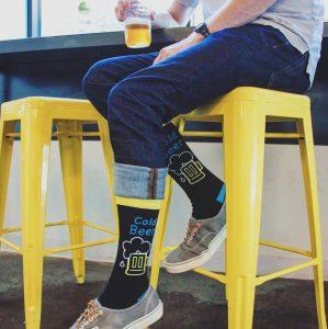 32 Men's Heart Beer Socks