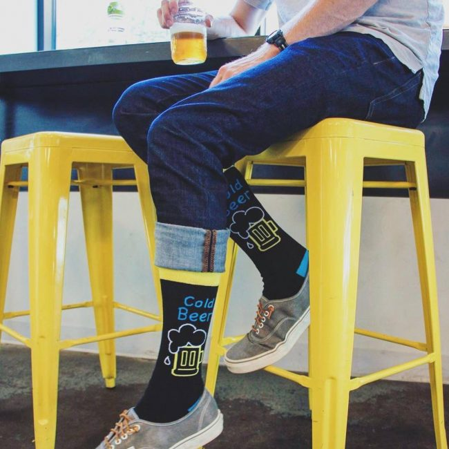 32 Men's Heart Beer Socks