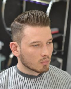 34 Sculpted Pomp with Natural Parting