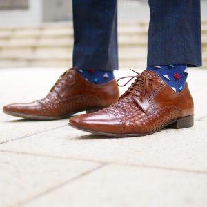 37 Dark Blue Detail Socks