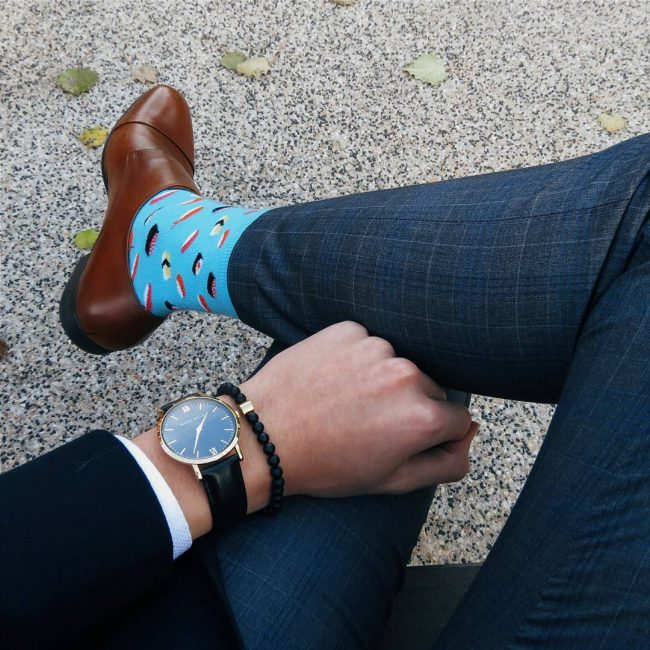 38 Sky Blue Detail Socks