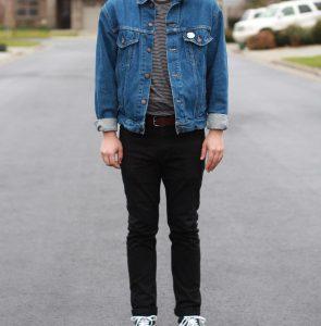 39 Vintage Trucker & Black Slim Jeans Pants