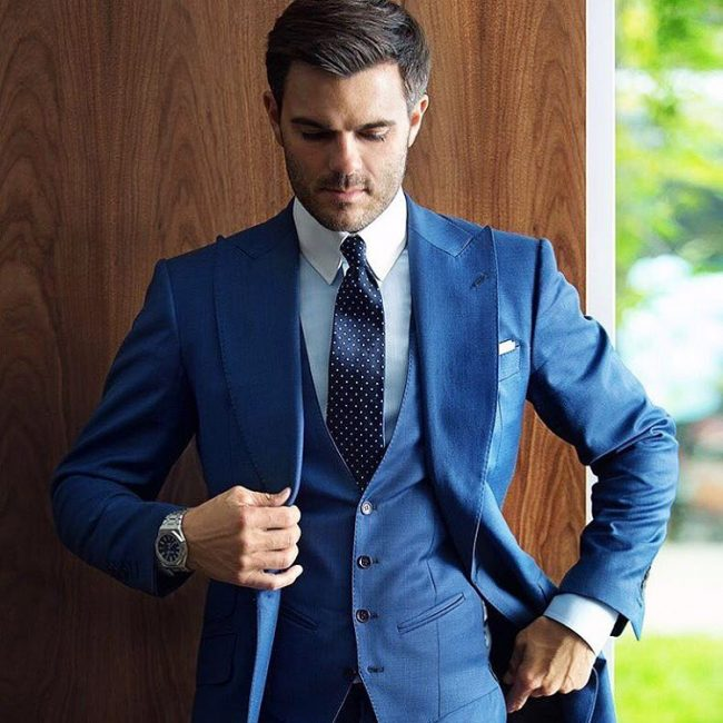 4 A Blue Suit Vest & A Matching Blue Suit