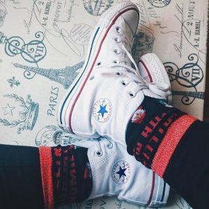 4 Blue Star Converse