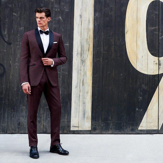 4 Custom Fitted Maroon Tuxedo