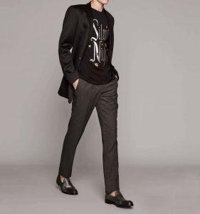 4 Gray Pants & Long Black Suit Jacket