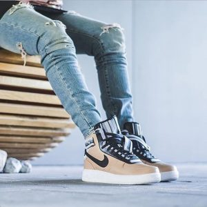 4 High Top Athletic Sneakers With Ripped Jeans
