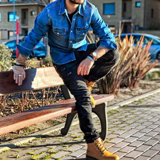4 Slim Fit Designer Black Jeans Pants