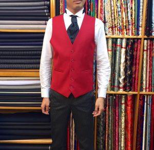 4 Suit Vest & Black Striped Trousers