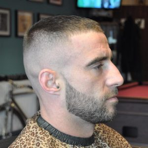48 Short Top with High Skin Fade