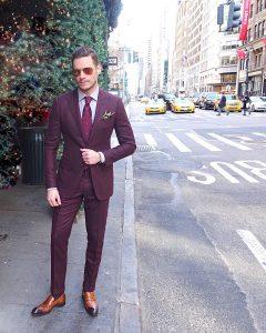 5 Cashmere Oxblood Suit