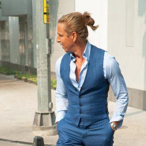 5 Cerulean Designer Suit Vest