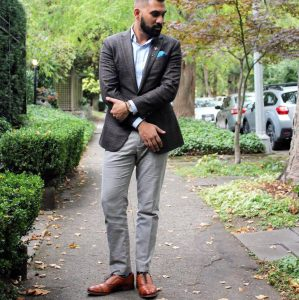 5 Cloud Gray Pants and Anchor Gray Jacket Suit