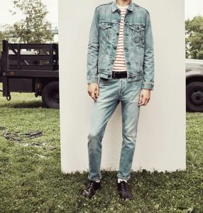 5 Green-Gray Skinny Jeans Suit