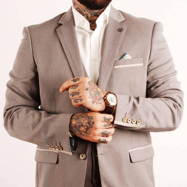 5 Grey 3-Piece Designer Suit
